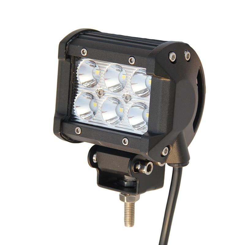 18w led light bar spot flood 12 volt 4 inch led work. Black Bedroom Furniture Sets. Home Design Ideas