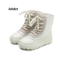 AAdct winter girls boots waterproof kids boots for boys cotton warm martin children shoes platform Brand High quality