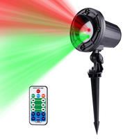New 24 Patterns Red Green Motion Christmas Projector RF Remote Outdoor Laser Light Stars IP65 Waterproof