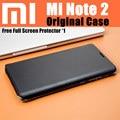 Caso original 100% de xiaomi mi note 2 oficial inteligente magnético caso capa de couro da aleta para xiaomi mi note 2 display flexível