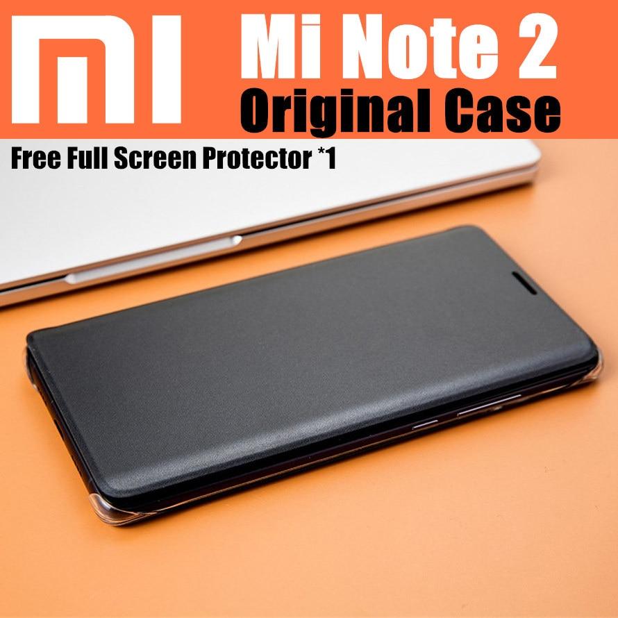 bilder für Xiaomi mi note 2 case original 100% von xiaomi offizielle intelligente magnetische leder flip-cover für xiaomi mi note 2 fällen