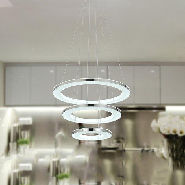 Anello cerchi moderno led Lampadari luci per sala da pranzo ...