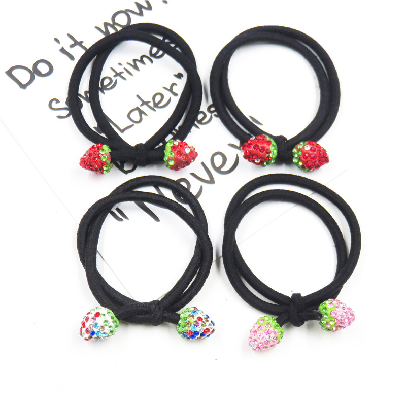 1PCS Strawberry Ball Hair Accessories For Women Headband,Elastic Bands For Hair For Girls,Hair Band Hair Ornaments For Kids 2019