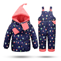 Kids Clothes Winter Down Jackets For Girls Warm Coat Snowsuit Children Outerwear Parachute Coat+Pant+Scarf Clothing Set Jumpsuit