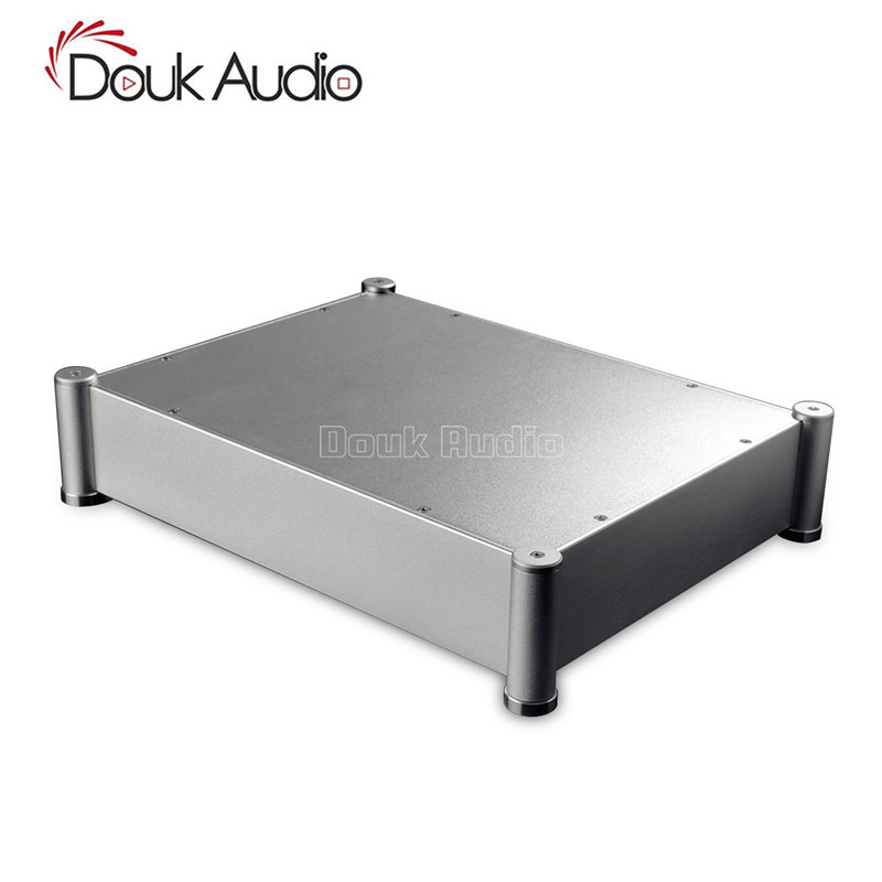 Douk Audio Aluminum chassis DAC case amplifier enclosure DIY Cabinet HiFi Box 430*95*330 mm douk audio front panel radiating aluminum chassis power amplifie cabinet diy case black box
