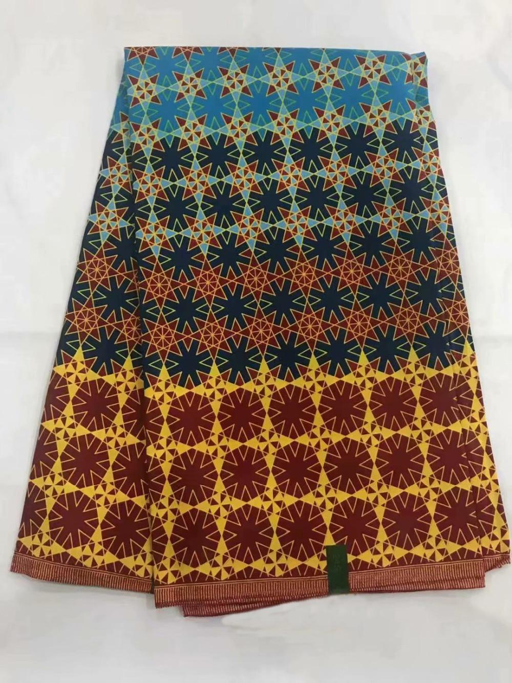 Tissu néerlandais chaud de mode/tissu de cire d'ankara java 6 yards/véritables impressions africaines de bloc de cire de java de coton 100% en gros! OT-3900