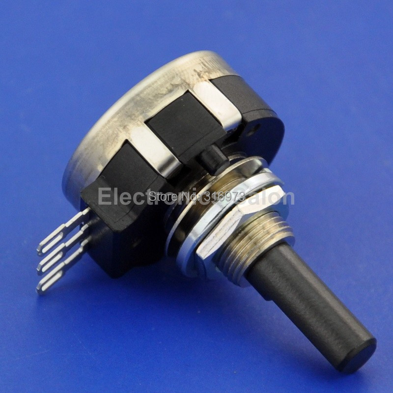 (10 pcslot) RVQ24YN04 25F B502 Rotary Potentiometer, 5K OHM Long Life Panel Pot, COSMOSTOCOS.