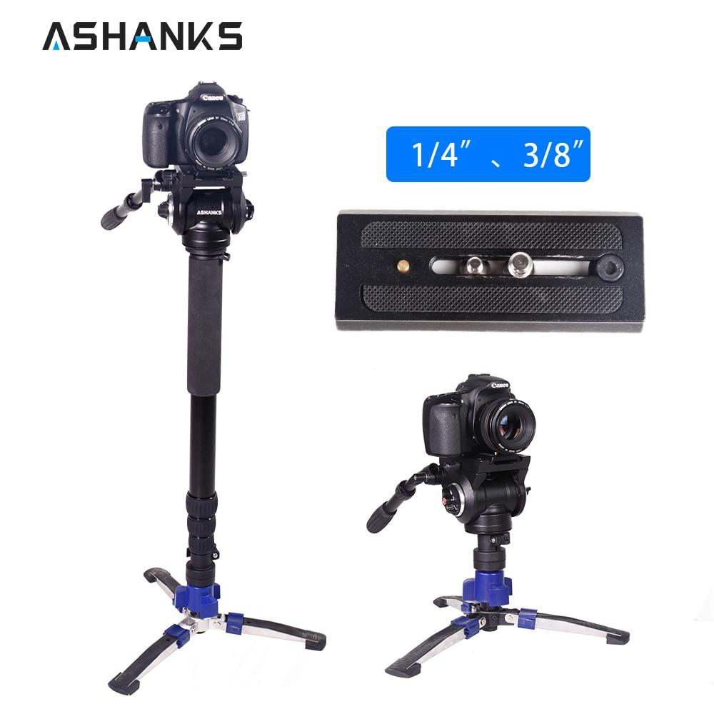Камера монопод стенд с Quick Release Plate Гибкая жидкость штатива стабилизатор для Canon sony DSLR аксессуары фотостудии