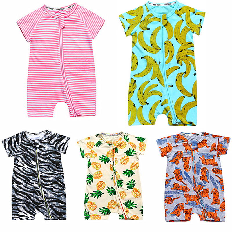 Summer Baby Rompers Cartoon Baby Girl Clothing Cotton Baby Boy Clothes Roupas Bebe