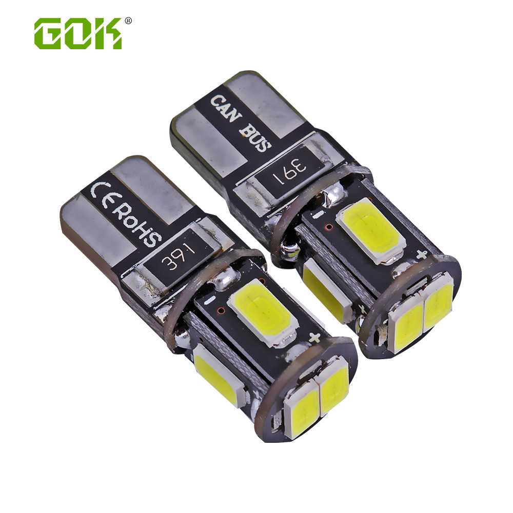 Super Bright!! 100 X T10 led W5W T10 6SMD led canbus 5630 Canbus NO ERROR 12V Car Auto led Bulb Indicator Light Parking Lamp купить