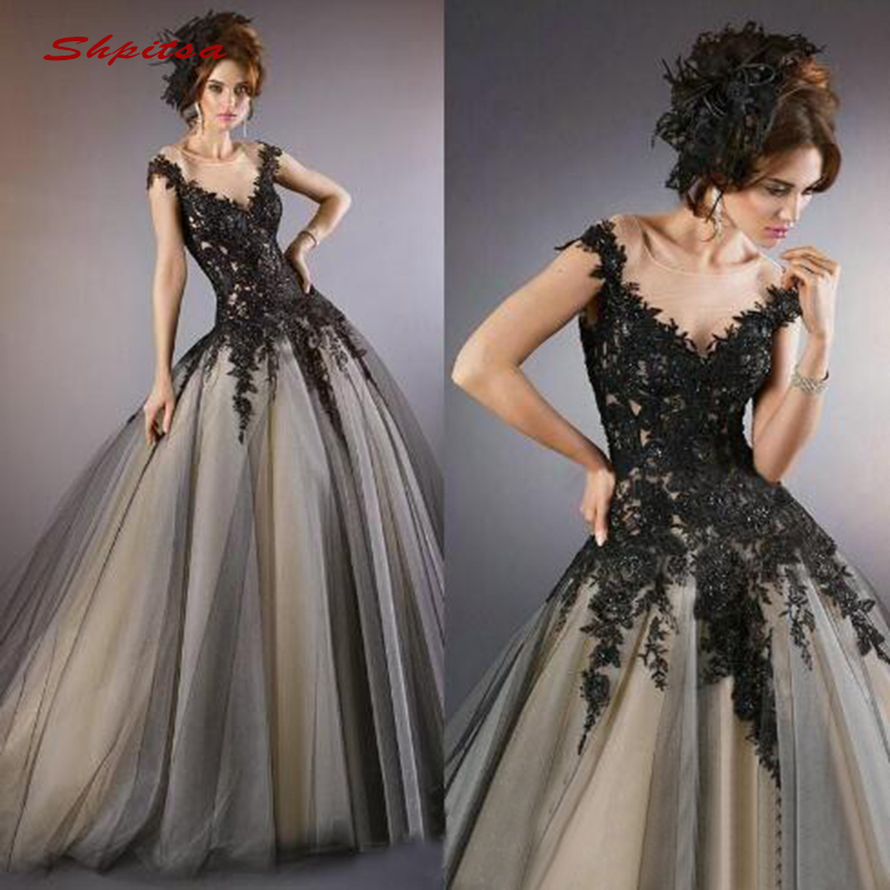 Black Lace Wedding Gowns