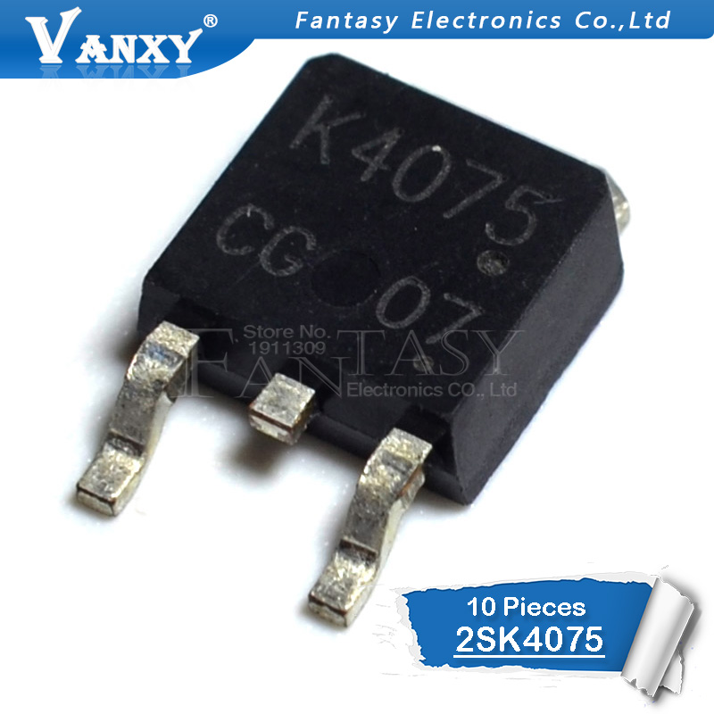 10PCS 2SK4075 TO252 K4075 TO-252