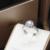 EDICIÓN de La Vendimia Moissanites Cuentos de Hadas Anillo 9 K Oro Blanco 0.8CT Corte redondo Corona de Diamantes Laboratorio Crecido Anillo de Bodas Para Las Mujeres joyería