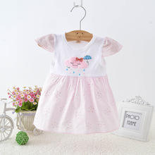 2019 Summer girls dresses Cute ruffles short sleeve baby clothing Party infant clothes kids dress for toddler children costume
