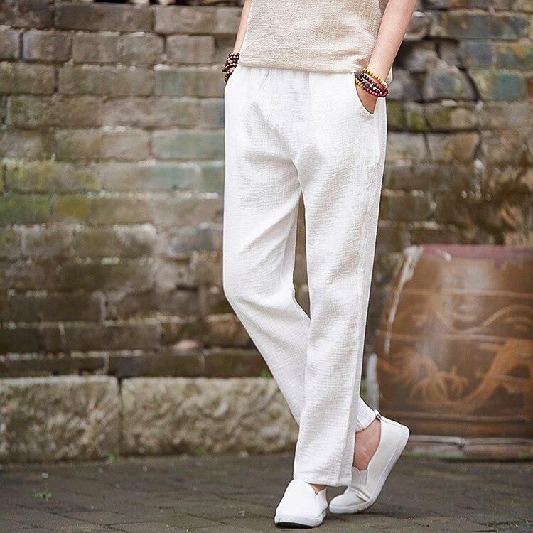 Plus Size M-7XL Elegant Double Decker Cotton Women Solid Color Casual Loose Elastic Waist Pocket Pencil Pants Women Clothing