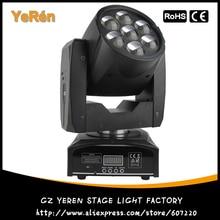 Zoom LED Moving Head Strahleneffekt Licht 7*12 Watt RGBW Quad Farbe LED Bühne DJ Beleuchtung