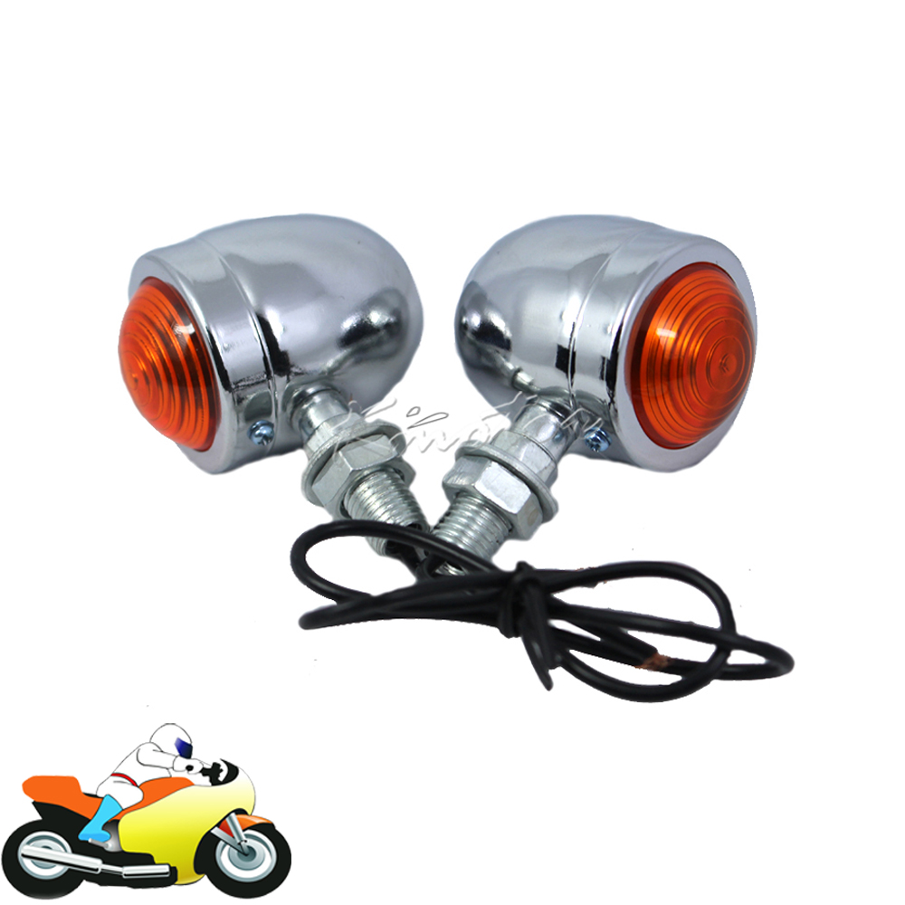 Bullet Motorcycle Chopper Street Bike Turn Signal Indicator Motorbike Light Lamp For Victory Vegas 8-Ball Jackpot Ness Premium