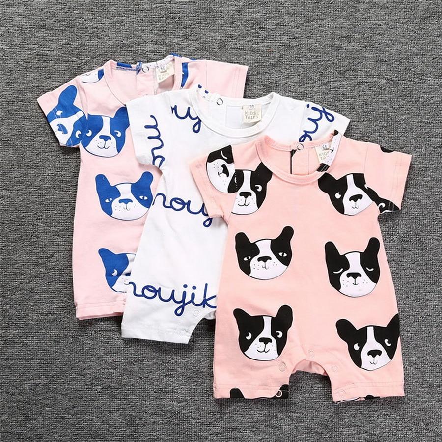 I Love My Dog Newborn Baby Short Sleeve Romper Infant Summer Clothing