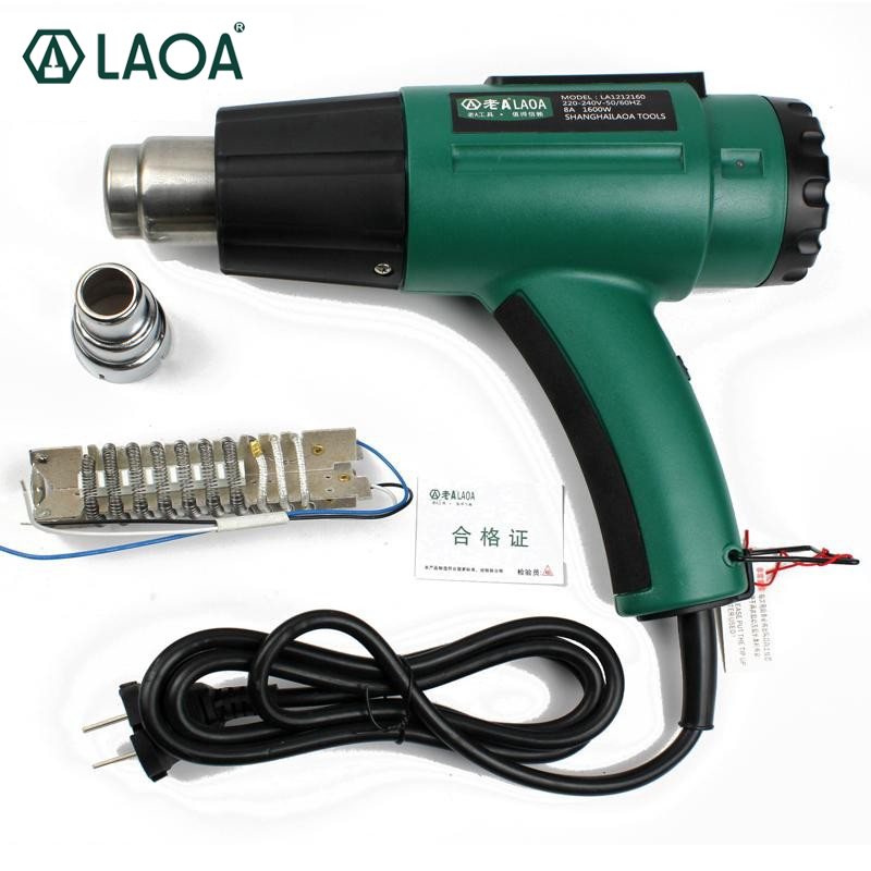 LAOA 1600W Adjustable Hot Air Gun Hand Hold Temperature Heating Element Heater Heat Gun Hot Gun цена
