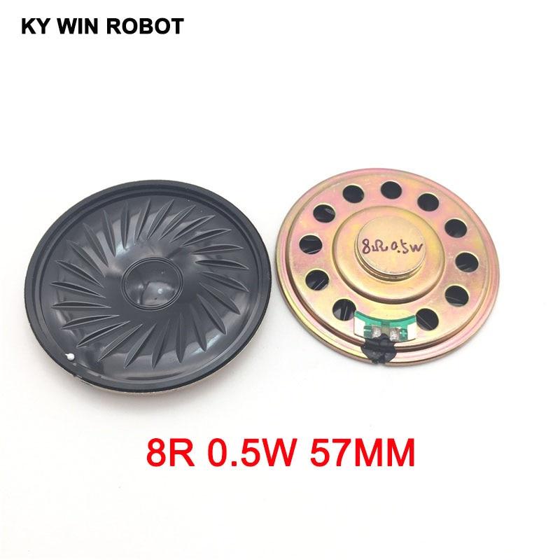 2pcs/lot New Ultra-thin Speaker 8 Ohms 0.5 Watt 0.5W 8R Speaker Diameter 57MM 5.7CM Thickness 5MM