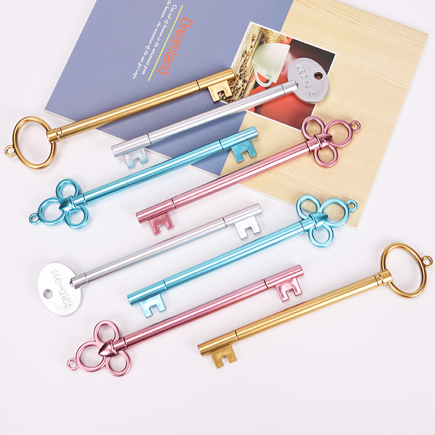1PC Key Gel Pen Kawaii School Supplies Office Stationary Cute Signing Pens Student Learning Stationery