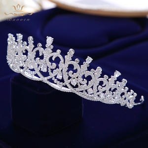 Image 3 - New Brides Heart Shape Full Zircon Brides Tiaras Crowns Sparking Bridal Hairbands Plated Crystal Wedding Hair Accessories