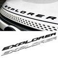 3D EXPLORER Письма Капот Эмблема Серебряный Хром Черный Логотип Наклейка Для 2011 2012 2013 2014 2015 Ford Explorer