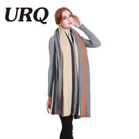 URQ Big Size Fashion New Winter Scarf Knitted Scarves Warmer Woman S Crochet Extra Long