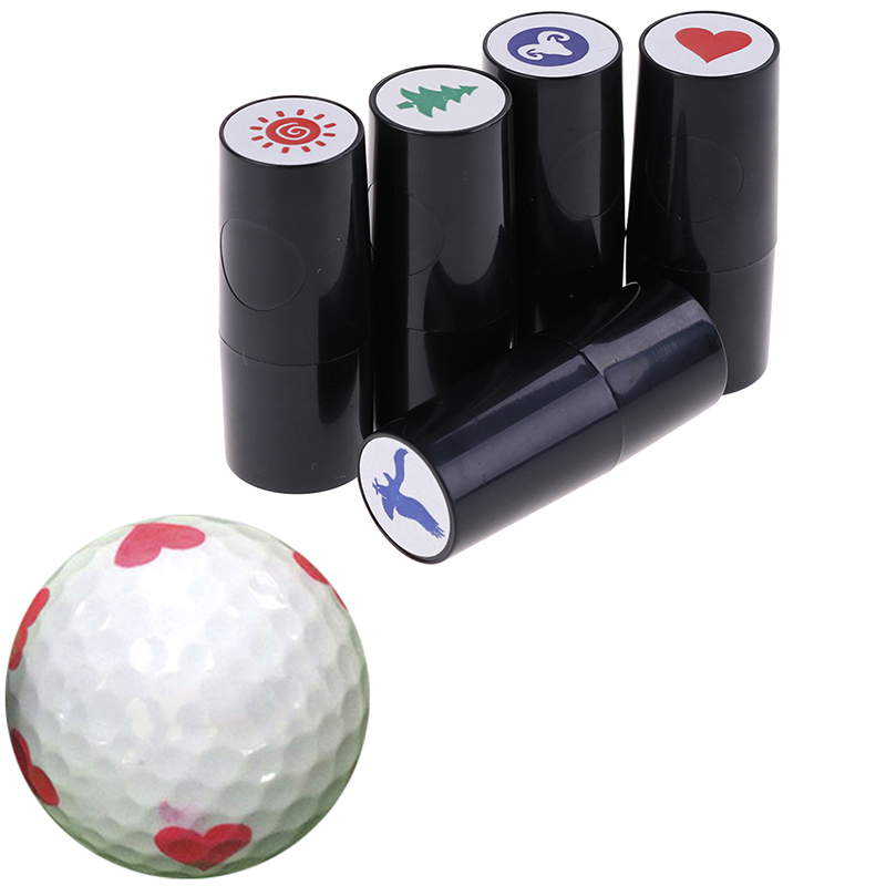 Random Quick-dry Plastic Golf Ball Stamper Stamp Marker Impression Seal Golf Club Accessories Symbol Golfer Souvenir Gift