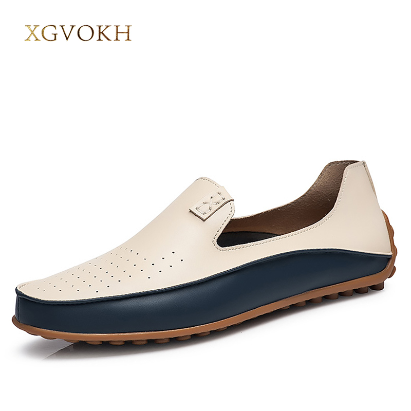 Mænd Loafers Casual boat Breathable Hollow Driving Moccasins XGVOKH - Mænds sko