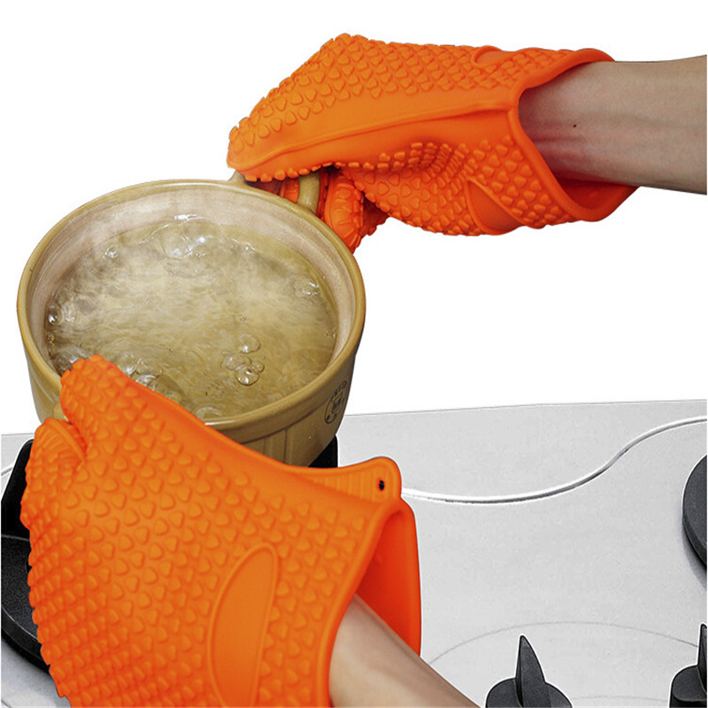 1 pcs BBQ gloves food grade Heat Resistant Silicone Kitchen barbecue oven glove Cooking BBQ Grill Glove Oven Mitt Baking glove