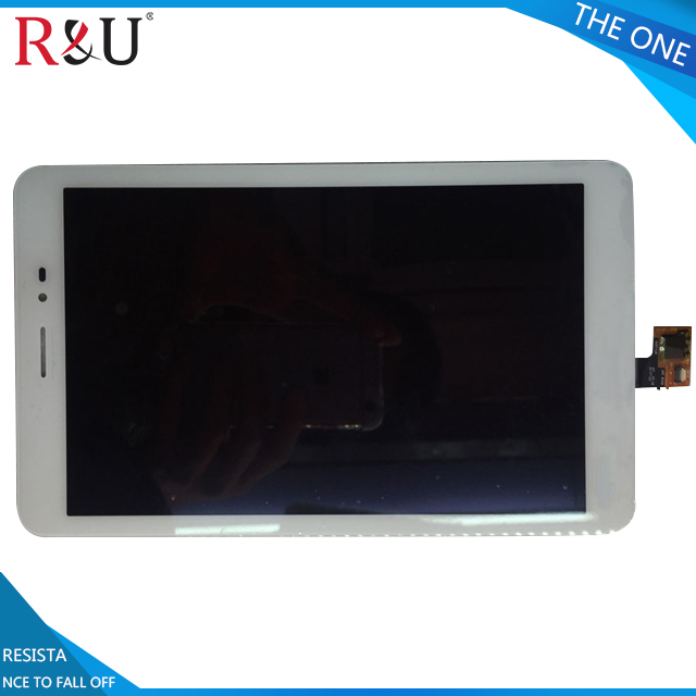 R&U 8 white LCD Display With Touch Screen Panel Digitizer assembly For Huawei Mediapad T1 8.0 3G S8-701 S8-701u