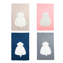 Cute Baby Blankets Infant Kids Rabbit Soft Warm Wool Swaddle Kids Bath Towel Lovely Newborn Baby Bedding Props Baby Blankets