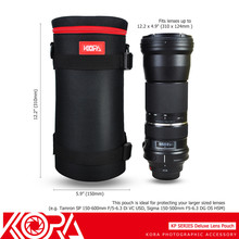 Kora Deluxe Lens Pouch Bag Case for Sigma 150-500mm 150-600mm For Tamron SP JB L Xtreme Portable Bluetooth Speaker