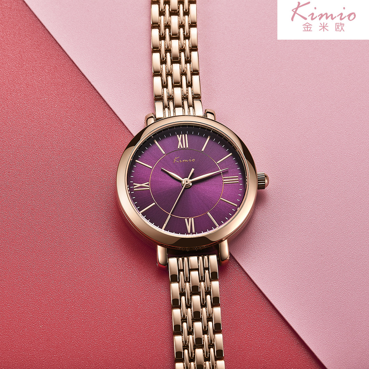 Women Watches Bracelet Watch Ladies KIMIO Simple Roman Numerals Dial Rose Gold Luxury Brand Quartz Womans Wrist Watches kimio brand bracelet watches women reloj mujer luxury rose gold business casual ladies digital dial clock quartz wristwatch hot page 2
