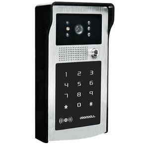 """Image 2 - 有線7 """"ビデオドア電話ドアベルビデオインターホンシステム + ir rfidコードキーパッドカメラ + リモート送料無料"""