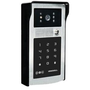 Image 2 - Visiophone filaire avec écran de 7 pouces, sonnette dinterphone vidéo avec clavier de Code RFID IR, caméra à télécommande, livraison gratuite