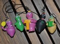 pvc  figure   classic  cartoon character  baba family  phone  chain    5pcs/set