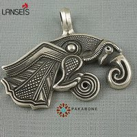 lanseis20pcs viking retro Raven of Odin Hugin Jewelry Viking Scandinavian Solid Pendant punk Necklace handmade jewelry