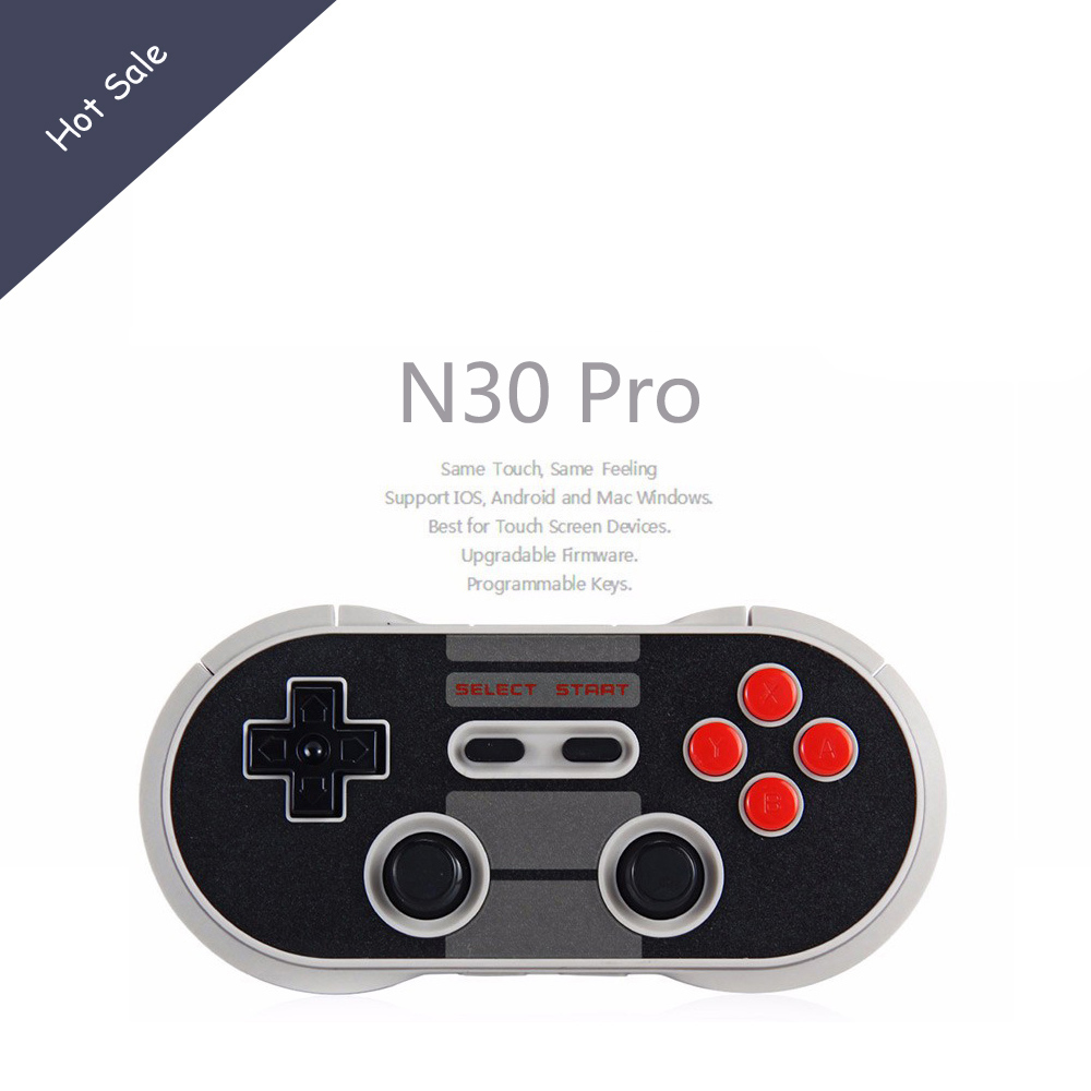 8Bitdo N30 Pro Finger Spinner Wireless Bluetooth Controller Dual Classic Joystick for Android Gamepad PC Mac Linux Gift wireless controller gamepad joystick for wii u pro