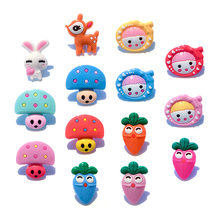 1pc Turnips Rabbits Deers Mushroom PVC Shoe Charms,Shoe Buckles Accessories Fit Bands Bracelets Croc JIBZ,Kids Party X-mas Gifts(China)