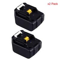2pcs Lot High Quality 14 4V 1500mAh Power Tool Battery For Makita BL1415 194065 3 DA340DRF
