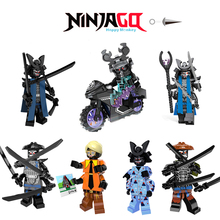 2018 HOT Ninjago Building Blocks Garmadon Set Gamma Sharkman Master Wu NYA LEGOINGLYS Ninjago Brick figures Children Toys bk37 compatible with ninjago 959pcs blocks ninjago figure epic dragon battle toys for children building blocks drop shipping