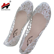 Women Sandals 2017 New Arrival Summer High Quality Women Slippers Sparkling Crystal Jelly Shoes(China)