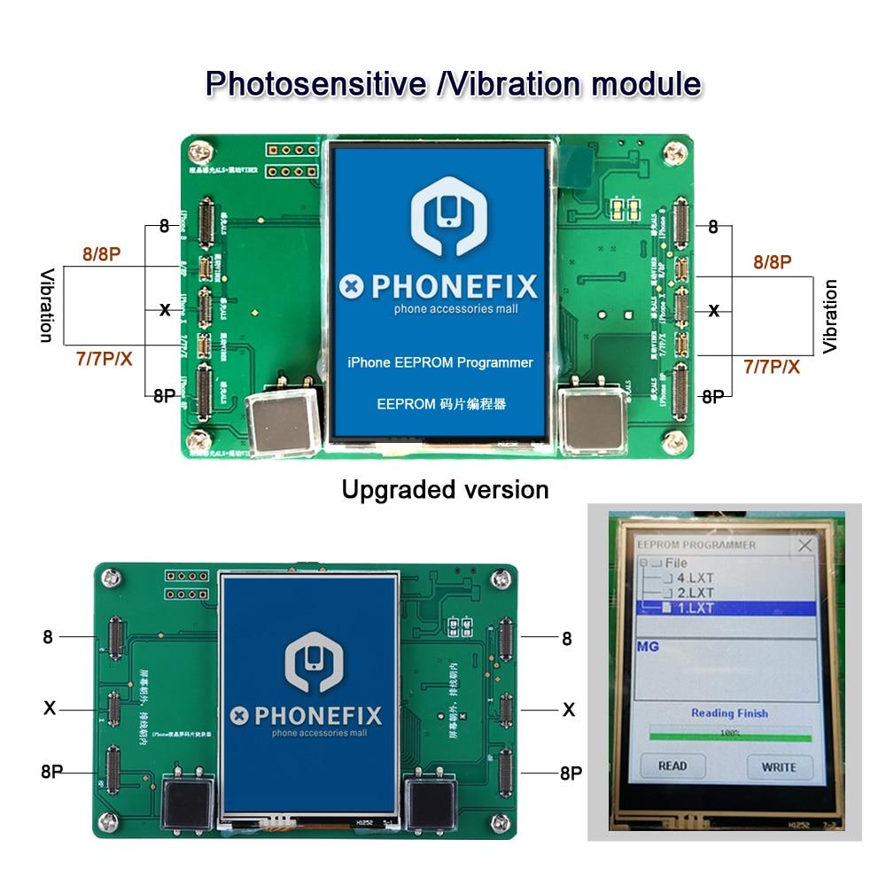 PHONEFIX LCD Screen Photosensitive Data EEPROM IC Vibration Code Read Write Repair Tool for iPhone 8