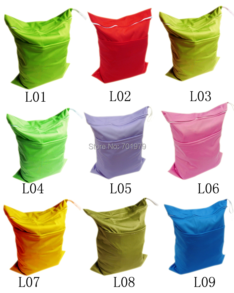 100 pieces lot ALVA Reusable and Washable Plain Color Baby Diaper Bags Free Shipping