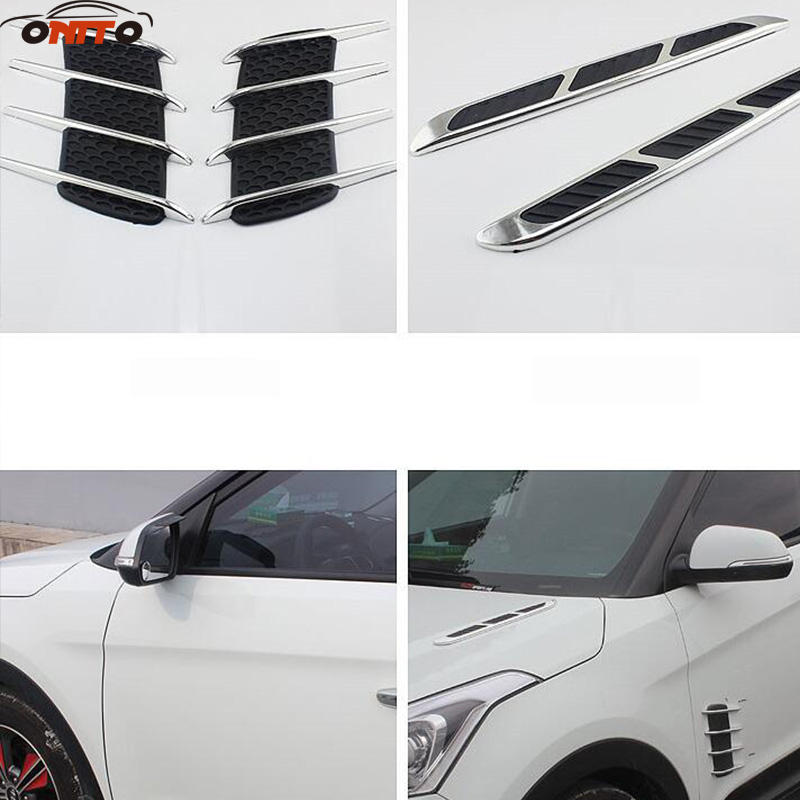 2pcs car Air Outlet sticker auto body decorative sticker for kuga fusion fiesta transit mustang ranger