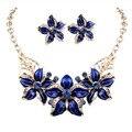 2016 Nuevo Sistema de La Joyería Pendientes del Collar de la Mujer de la Señora Partido Gota de Aceite del Bromista de La Flor Romántica Hermosa Increíble Envío Libre