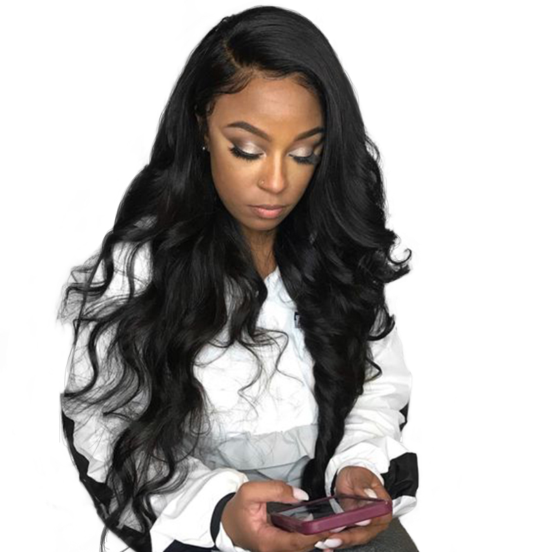 Transparent Deep Part 13X6 Lace Front Human Hair Wigs For Women Black Body Wave Brazilian Pre Plucked 100% Remy Prosay