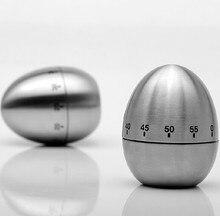 Mecánica Dial Cocinar Huevo Temporizador de Cocina de Acero Inoxidable de Alarma Reloj Recordatorio de Tiempo de hasta 60 Minutos